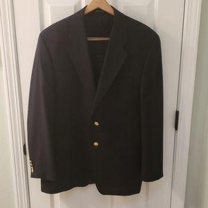 Chaps Ralph Lauren Black Blazer 42R 100% Wool